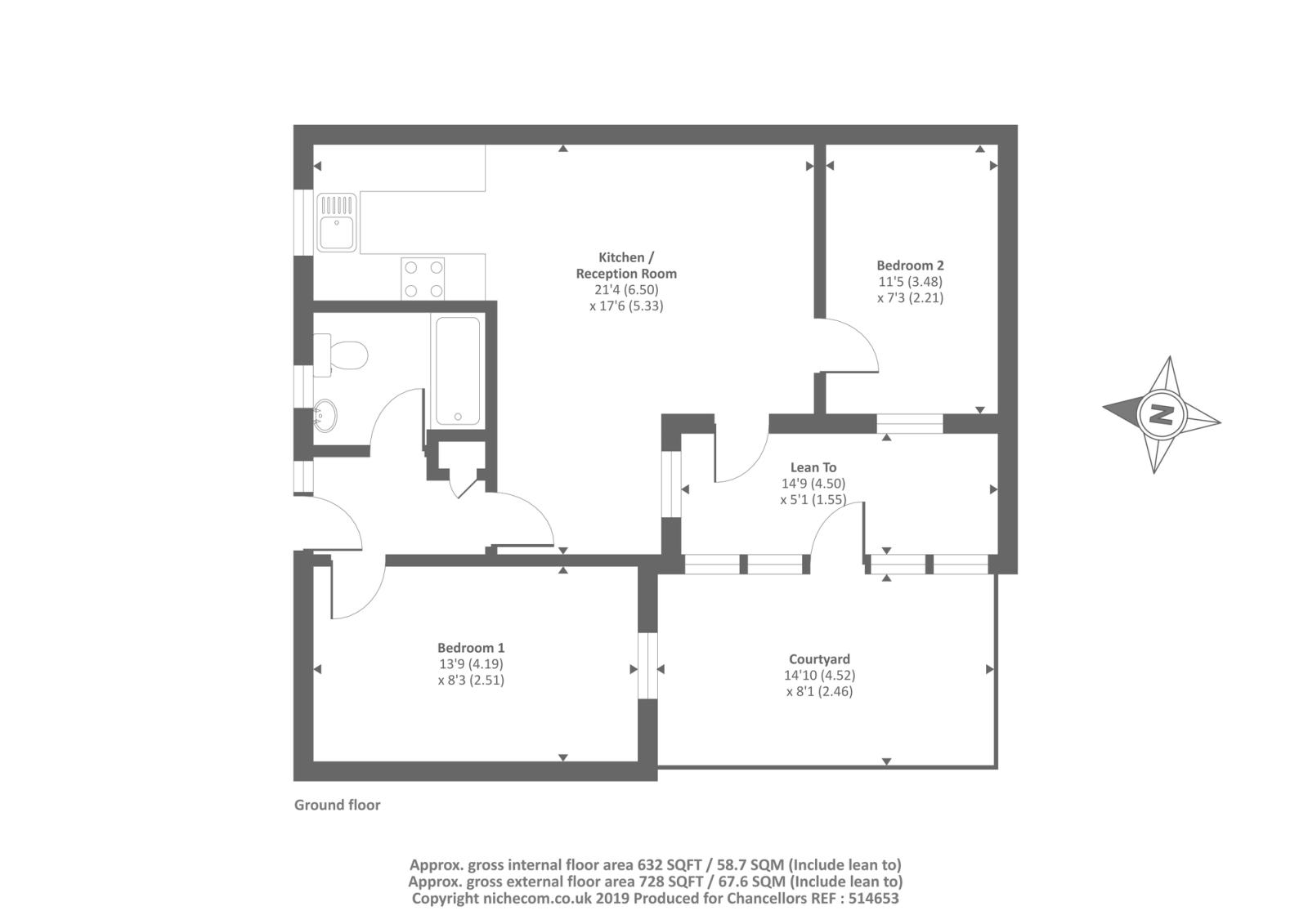 Leominster, Herefordshire HR6, 2 bedroom bungalow for sale