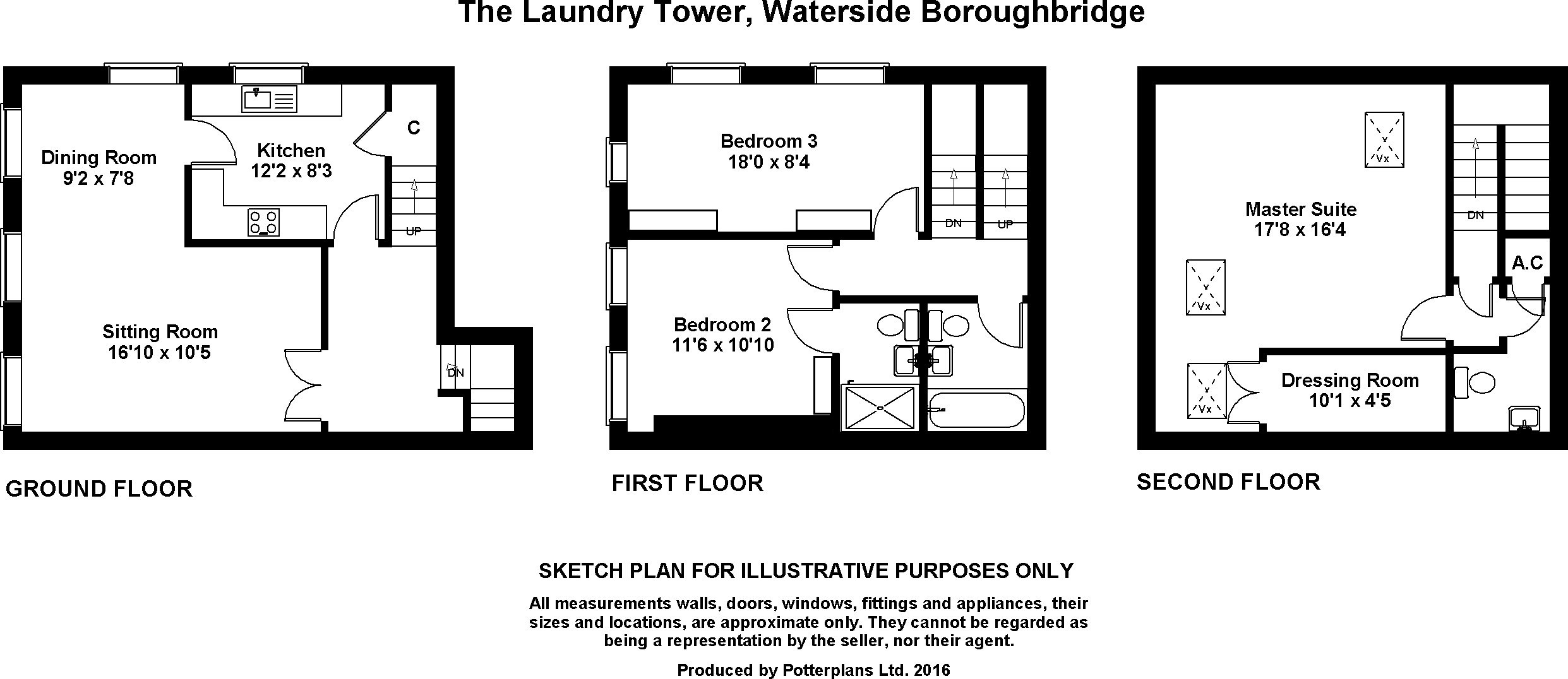 Waterside, Boroughbridge YO51, 3 bedroom flat for sale