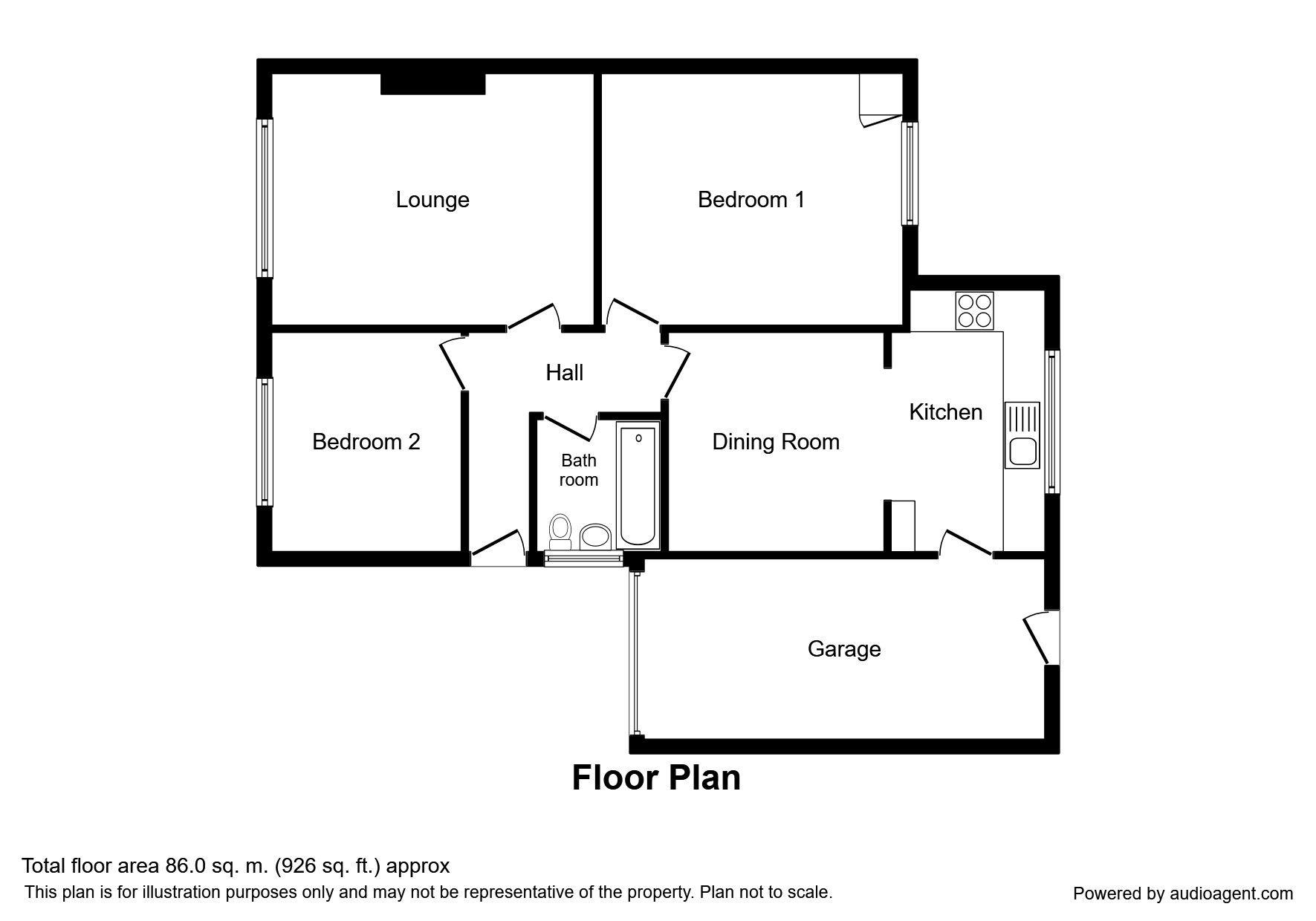 Chapel Lands, Alnwick NE66, 2 bedroom bungalow for sale