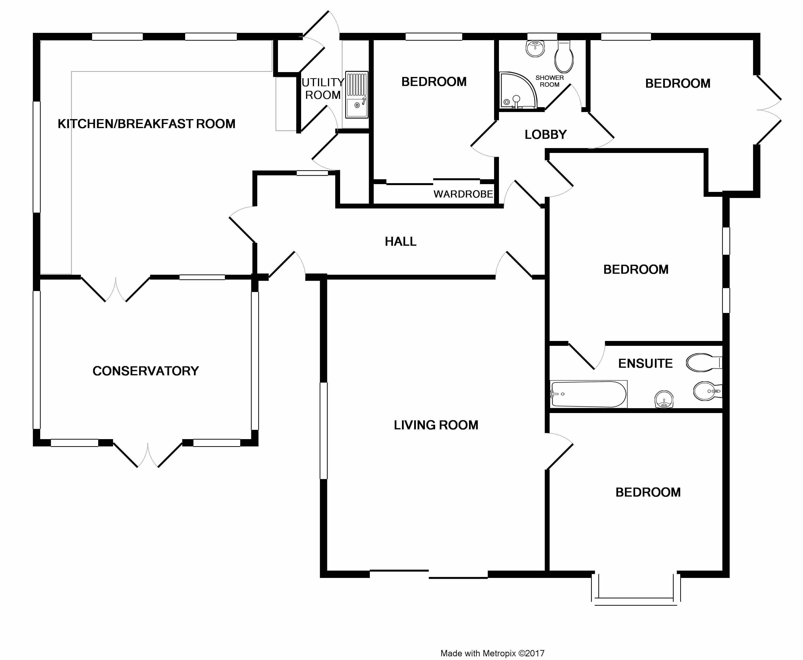 Brook Lane, Old Felixstowe IP11, 4 bedroom bungalow for