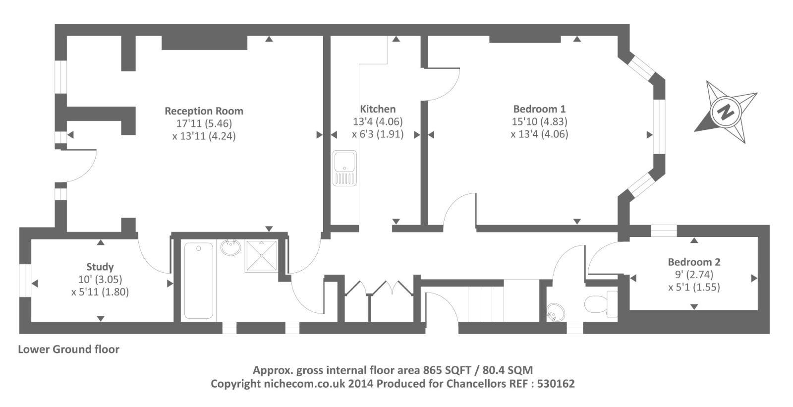 Richmond Hill, Surrey TW10, 2 bedroom flat to rent