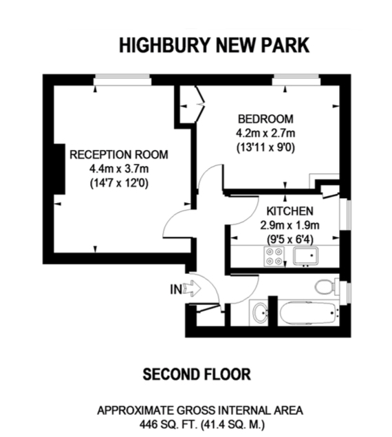 Highbury New Park, London N5, 1 bedroom flat to rent