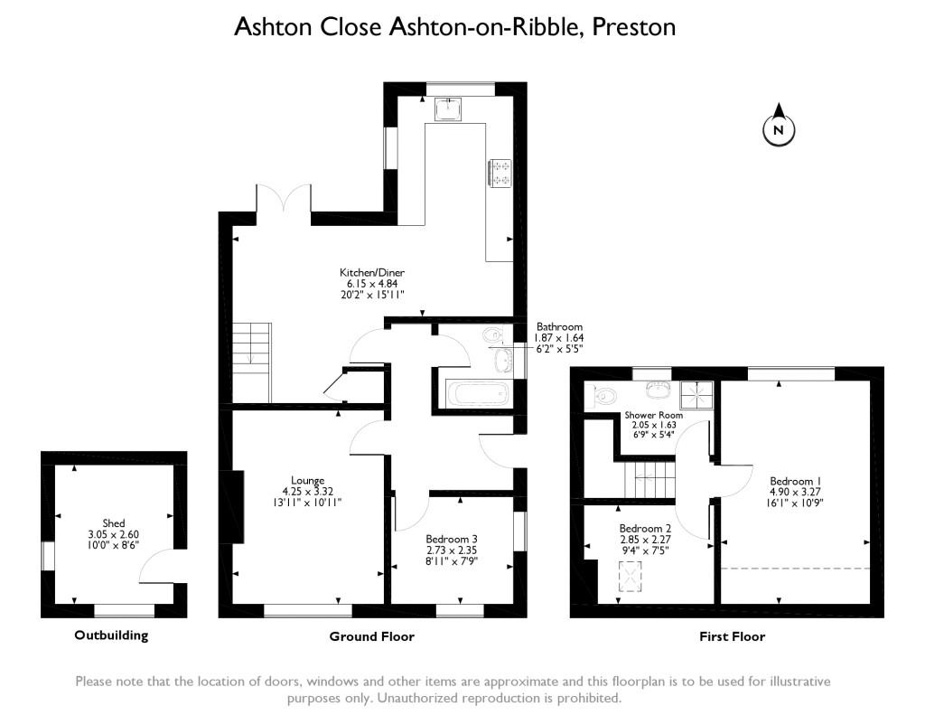 Ashton Close, Preston, Lancashire PR2, 3 bedroom semi