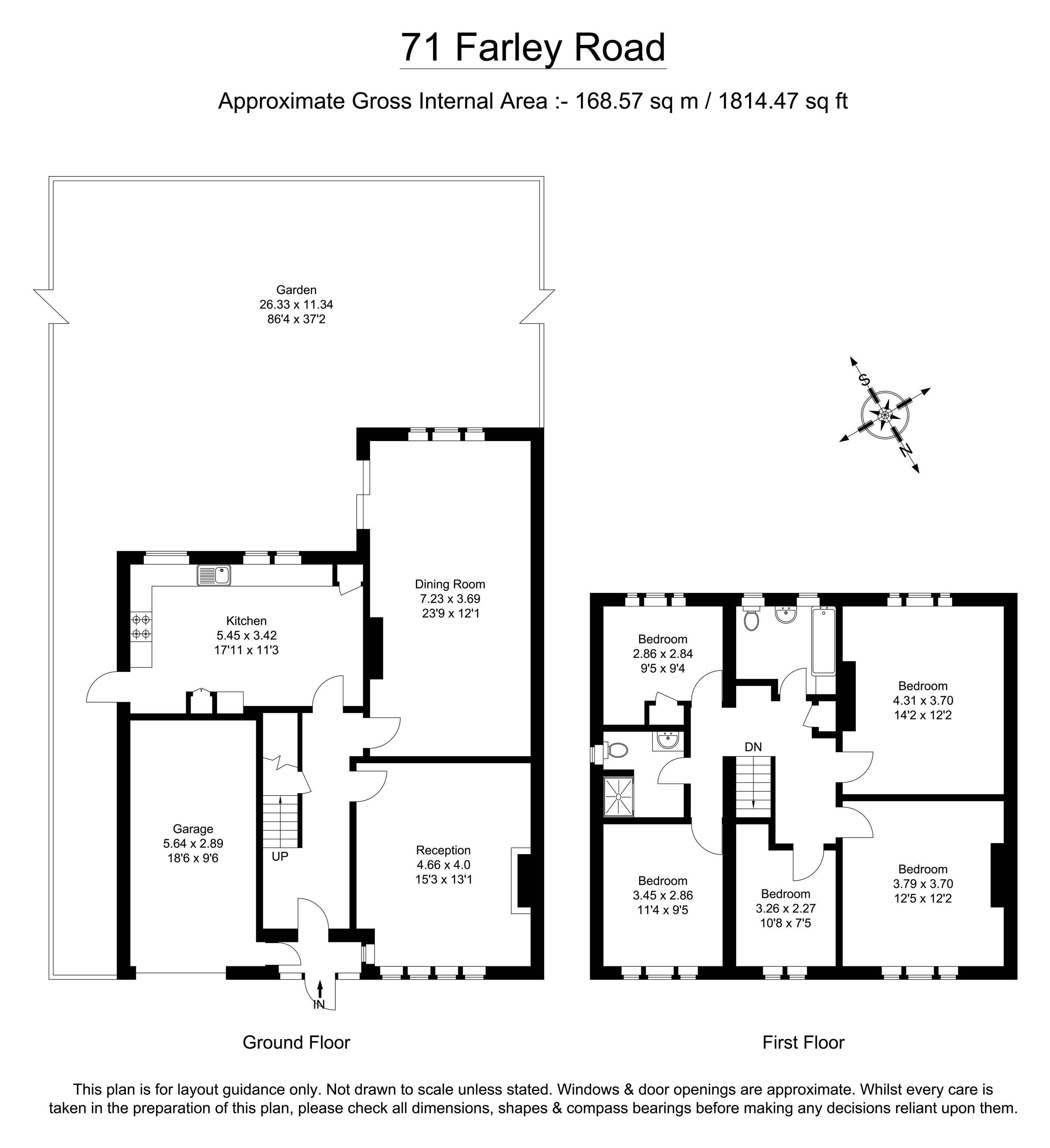 Farley Road, South Croydon CR2, 5 bedroom semi-detached
