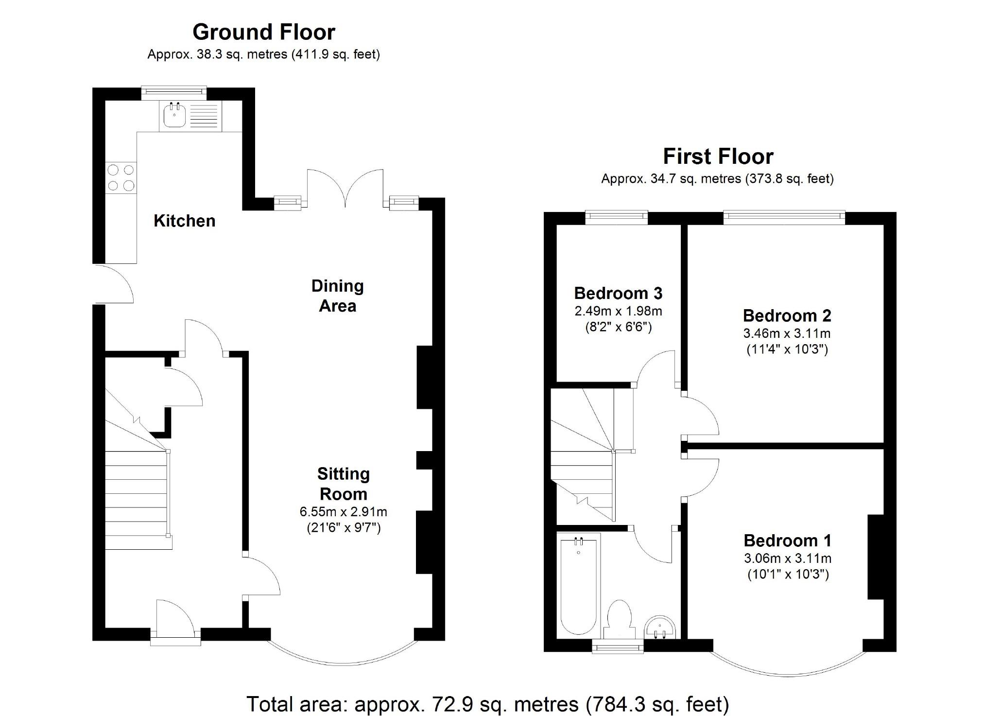 Orchard Grove, Upper Stratton, Swindon SN2, 3 bedroom semi