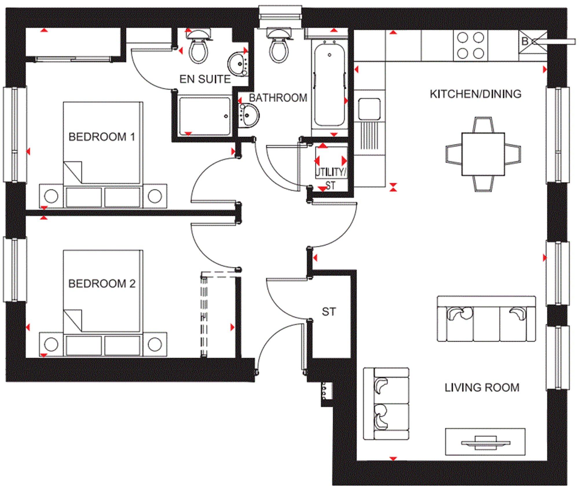 £182,995, 2 bedroom flat for sale in Bucksburn, Aberdeen