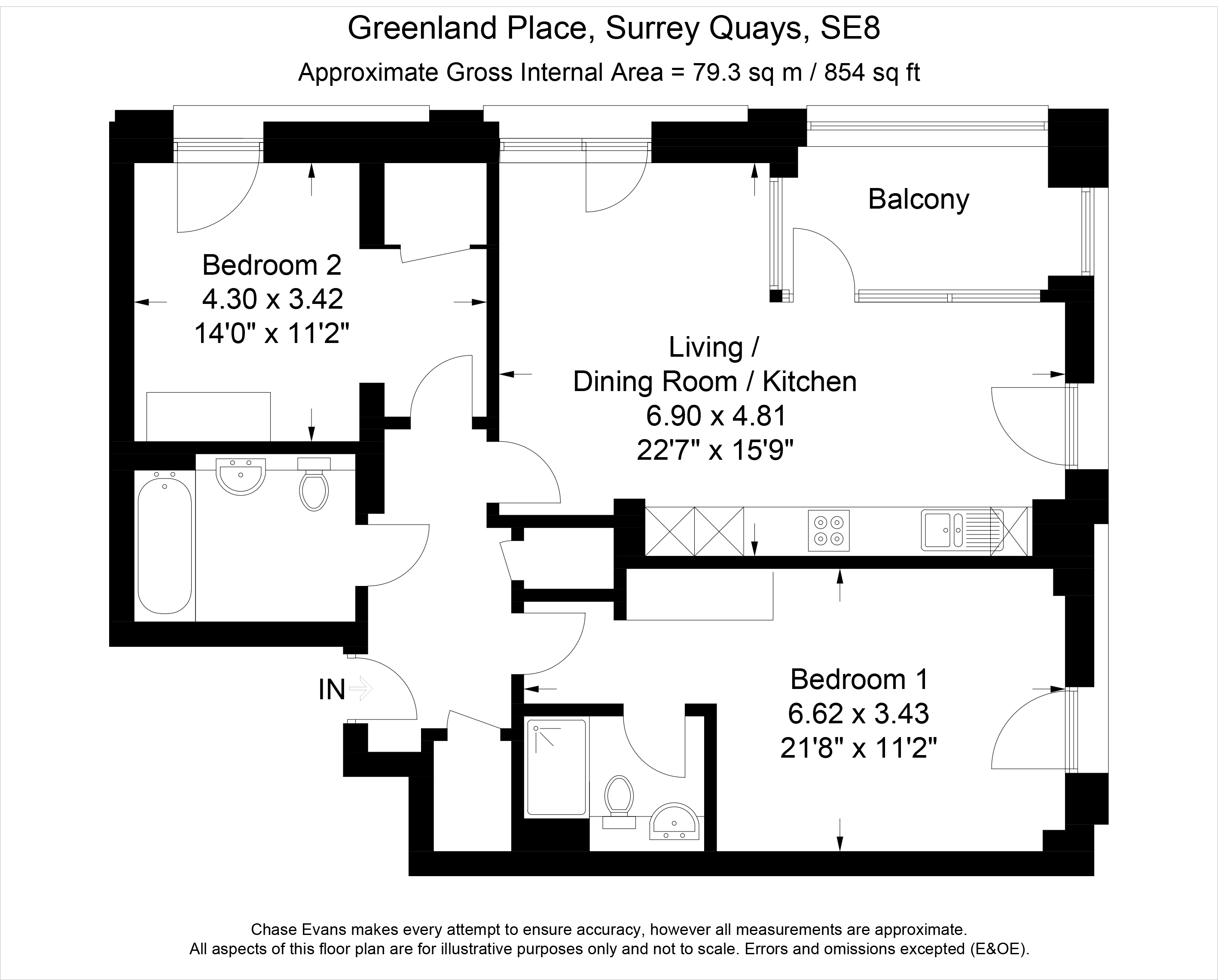 Greenland Place Oslo Tower Surrey Quays Se8 2 Bedroom