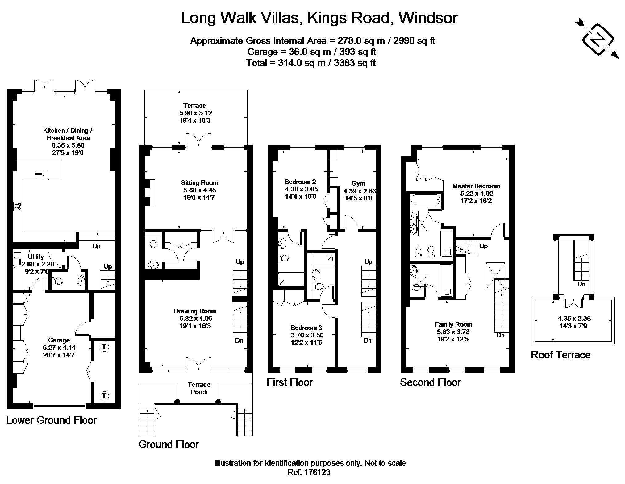 5 bed town house to rent in Long Walk Villas, Kings Road