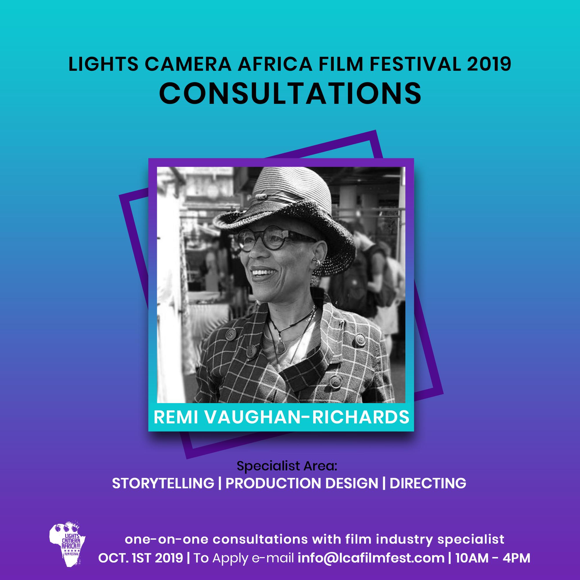 Lights Camera Africa Filmmaker Consultation Remi Vaughan-Richards