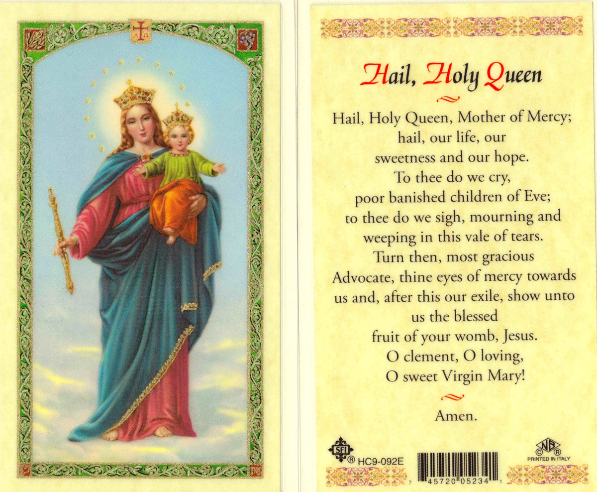 Holy Card Our Lady Of Victory