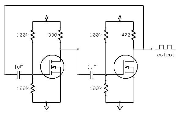 Square wave oscillator circuit diagram Electrical amp