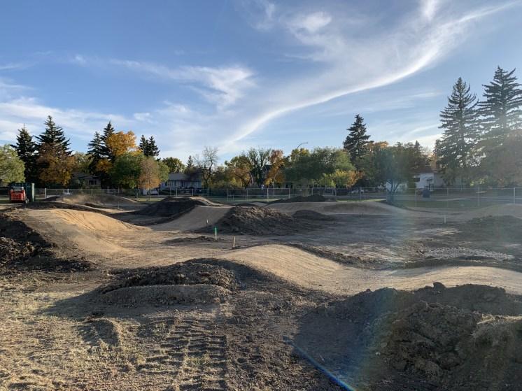 Regina Lakeview Pump Track Progress Sept 2021