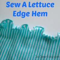 Sewing Tip-How to sew a Lettuce Edge Hem