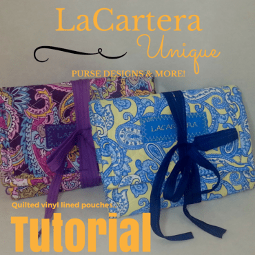 Quilted Pouch Tutorial - https://lcartera.wordpress.com/2015/10/30/tutorial-quilted-trifold-three-zipper-pouch/