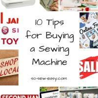 Sewing Tip - 10 Tips for Buying a Sewing Machine