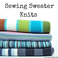 Sewing Tip - Sewing With Sweater Knits