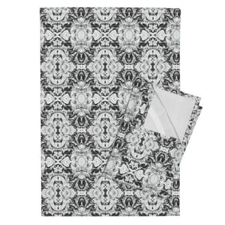 Orpington-Linen Tea Towels (Set of 2) - https://www.roostery.com/p/orpington-linen-tea-towels/5407302-vintage-filigree-by-lacartera