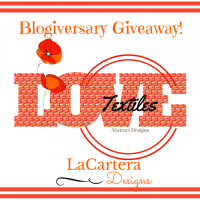 Blogiversary Textile Giveaway! (Closed) Winner Announced on January 16th!
