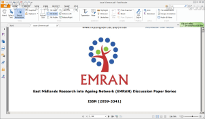 L-CAS in the East Midlands Research into Ageing Network (EMRAN) catalogue