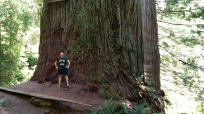 Me at Boy Scout Tree Crescent City