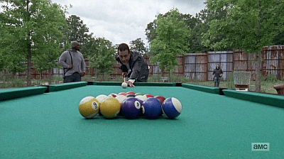 The Walking Dead - Heart Still Beating 7 8 - negan breaks pool balls