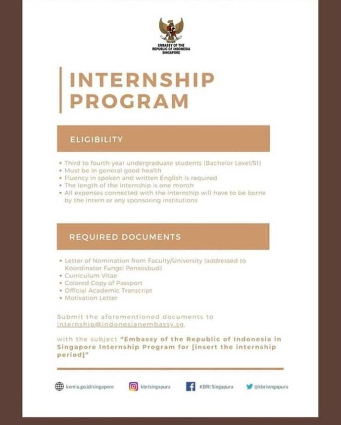 Internship At Embassy Of The Republic Of Indonesia Singapore Lcdc Law Ugm Ac Id