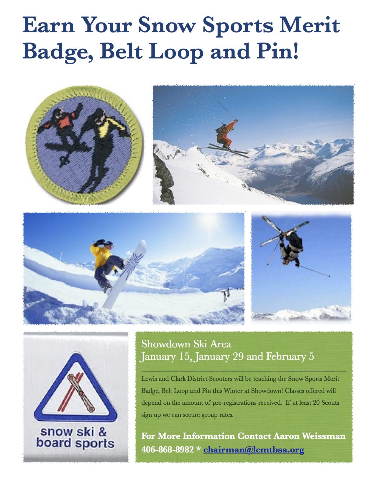 Ski And Board Sports Merit Badge Meeting 12 8 At Bighorn