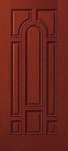 8 Panel Door : panel, Rustic-Old, World, Exterior, Therma, Single, Fiberglass, Pattern, Mahogany, FCM134-H_1