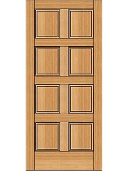 8 Panel Door : panel, Rustic-Old, World, Exterior, EverMark, Single, Grain, EWF20102868