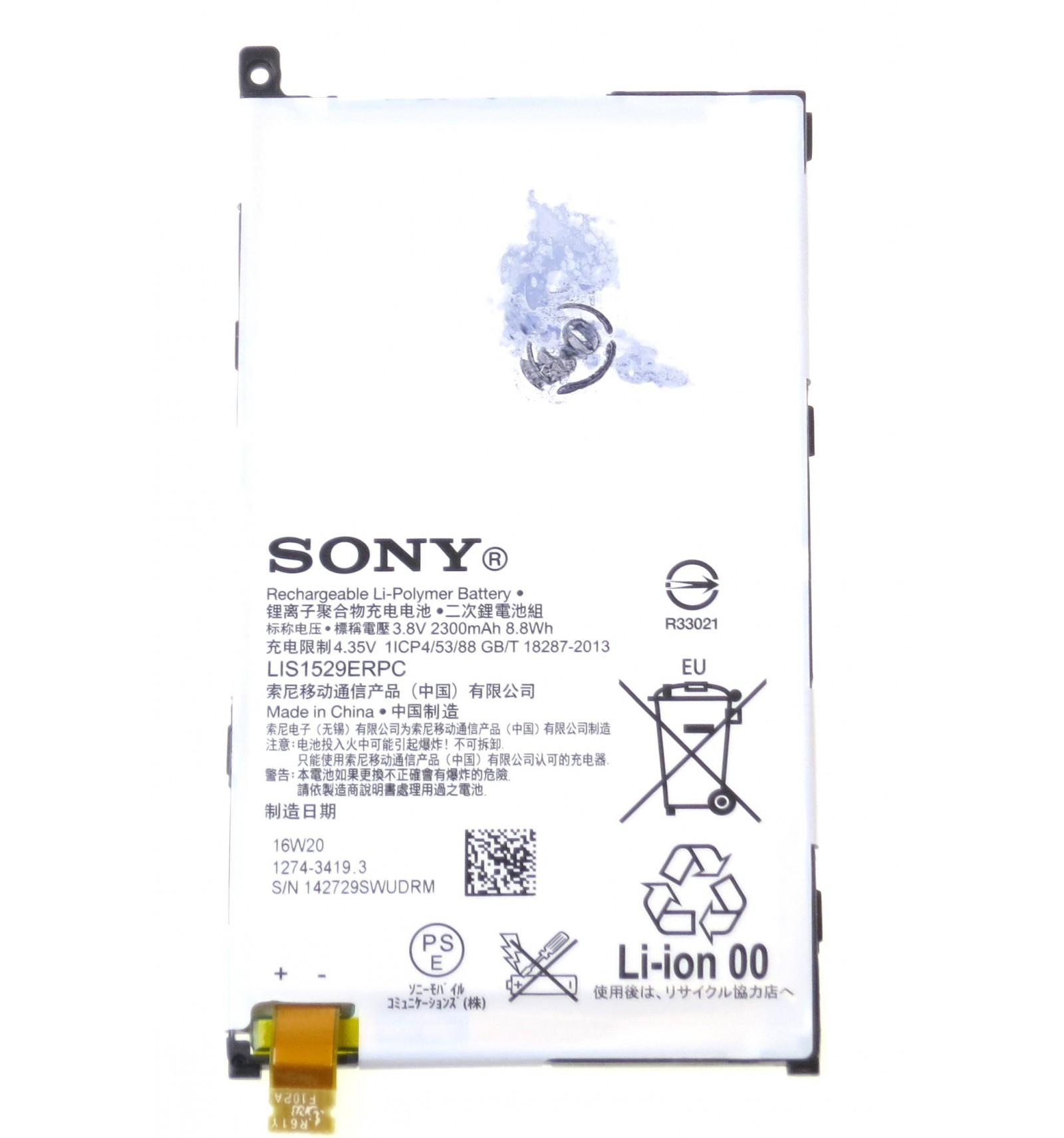 Batéria originál na Sony Xperia Z1 compact D5503 1274-3419