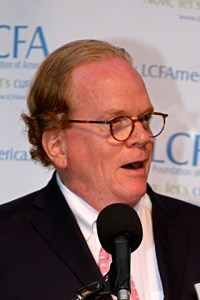 Lung Cancer survivor, David Sturges, speaking at a Lung Cancer Foundation of America event