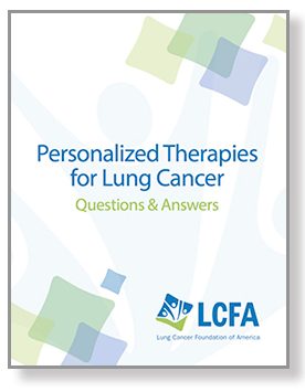 Personalized Therapies for Lung Cancer brochure cover