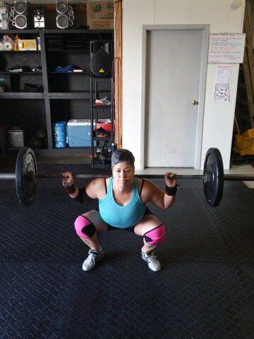 Juanita working out - living with lung cancer