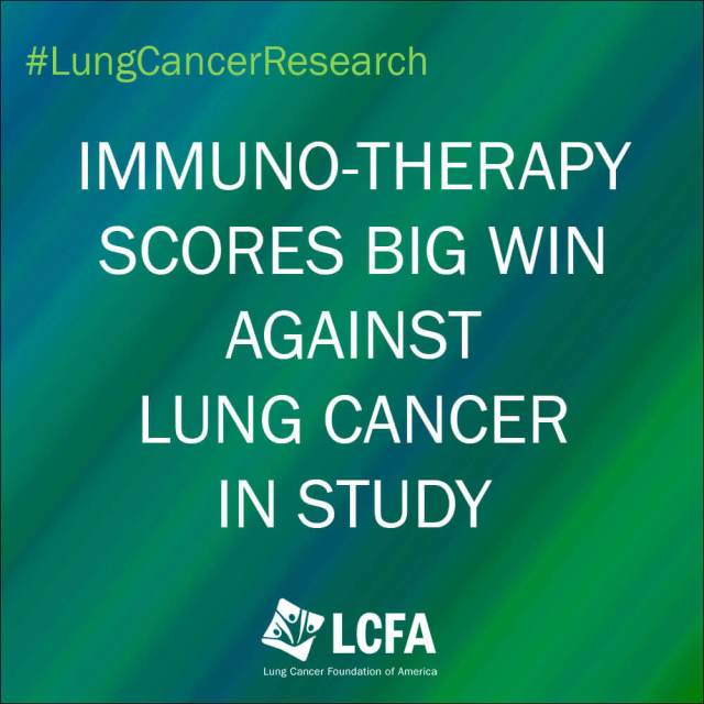 Immuno-therapy scores big win against lung cancer in study