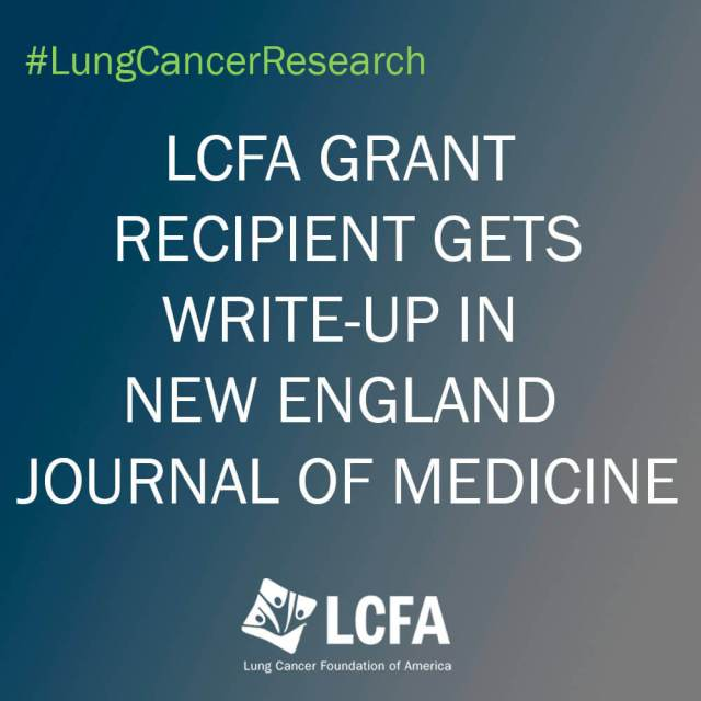 LCFA Grant recipient gets write-up in New England Journal of Medicine