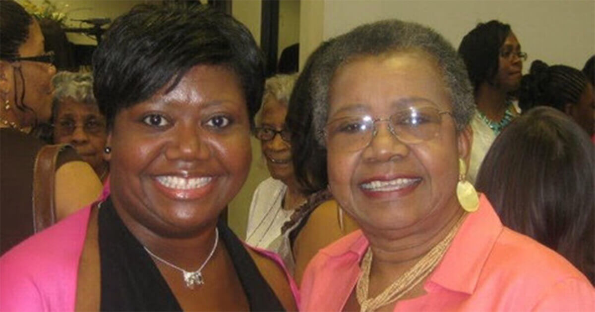 Laronica with her mother Lillie