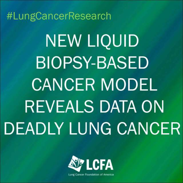 New liquid biopsy-based cancer model reveals data on Small Cell Lung Cancer