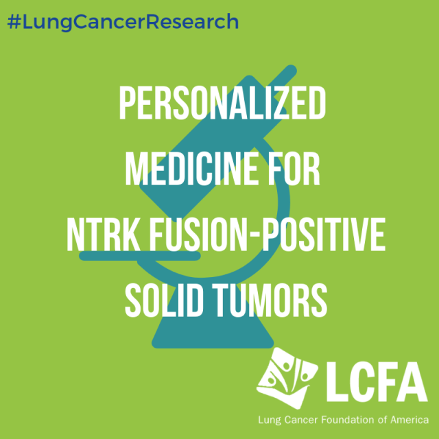 Personalized medicine for NTRK fusion-positive solid tumors