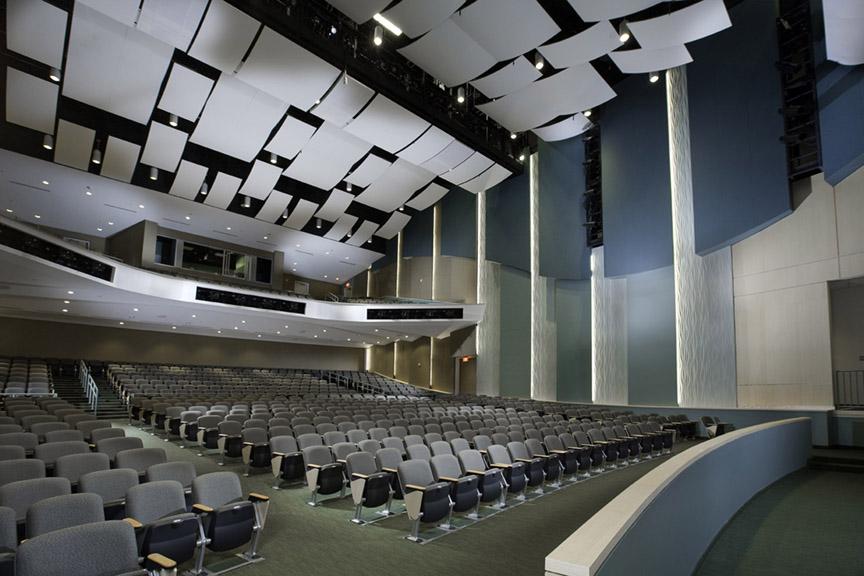 NSU Auditorium acoustical ceiling panels