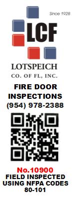 Fire Door Inspection Sticker