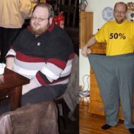 A mancat gras si a slabit 90 de kilograme