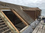 Removal of battern and slate