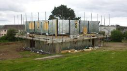 Erection of 1st floor panels