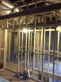 Start of 1st floor internal stud work
