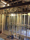 Start of 1st floor internal stud work