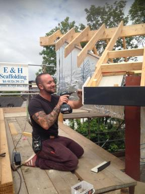 Erection of Timber Frame , and Fascia and Sofet