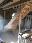 Staircase assembled and fitted