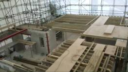 New floor joists and panel flooring