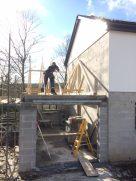 Garage roof assemebled