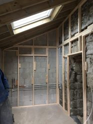 kitchen extension frame work